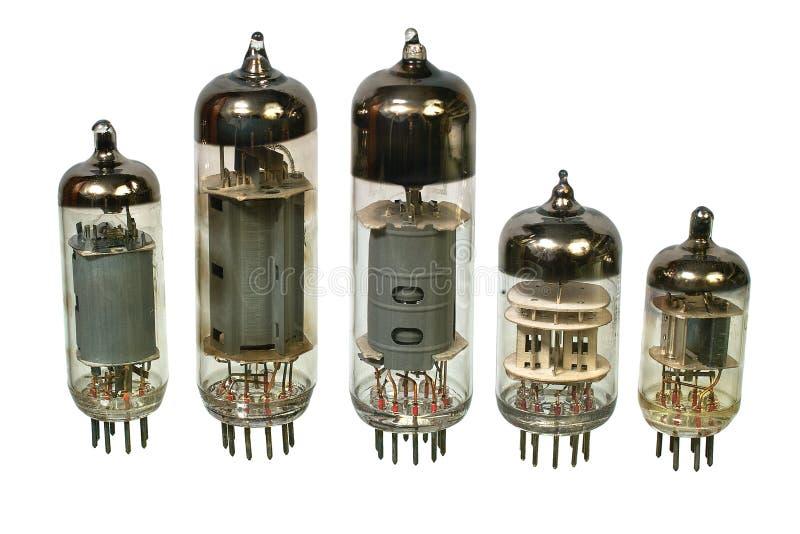 Câmaras de ar de rádio do vácuo velho. foto de stock royalty free
