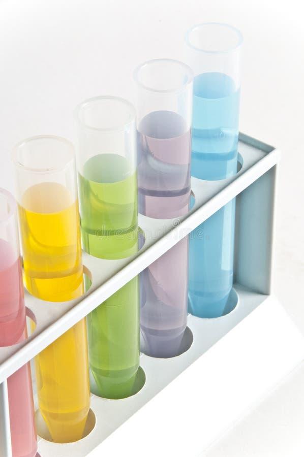 Câmaras de ar de teste da química fotos de stock royalty free