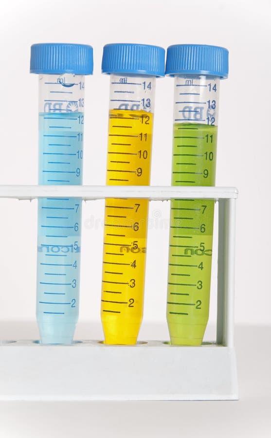 Câmaras de ar de teste da química foto de stock royalty free