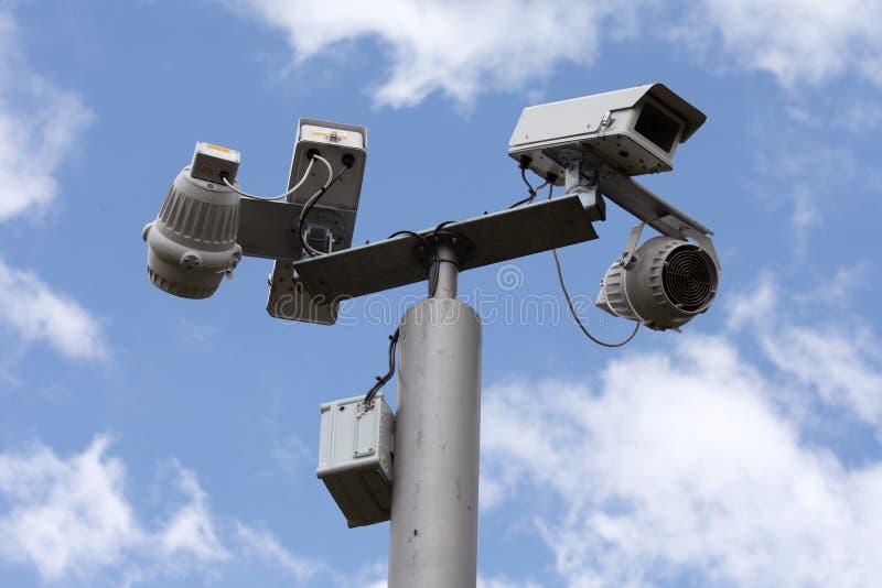 Câmaras de segurança imagens de stock