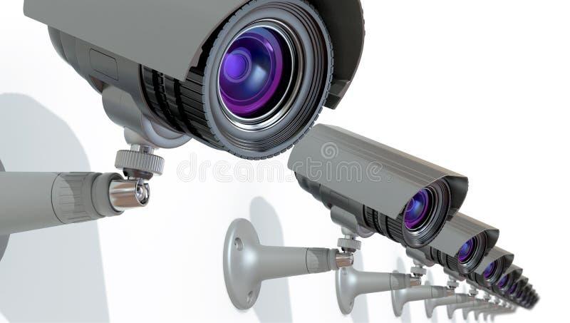 Câmaras de vigilância ilustração stock