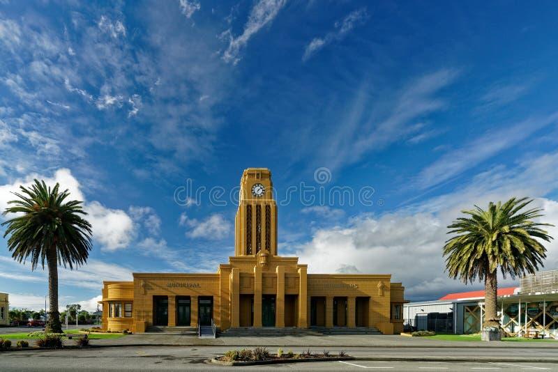 Câmaras municipais de Westport, região da costa oeste, distrito de Buller, Nova Zelândia imagem de stock royalty free