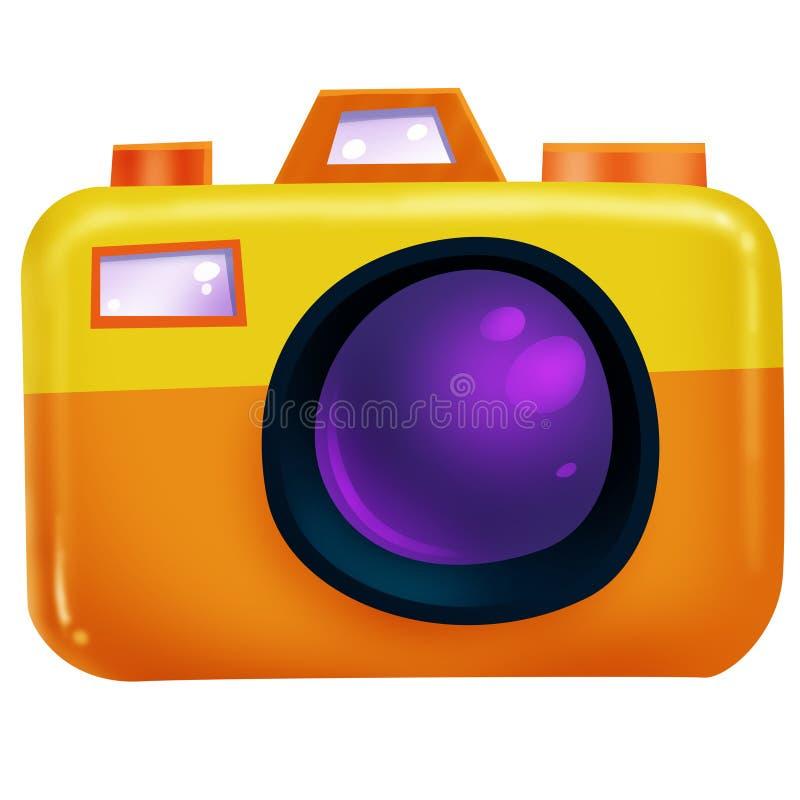 Câmera alaranjada fotografia de stock