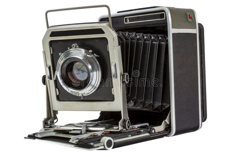 Câmera americana velha da imprensa imagem de stock royalty free