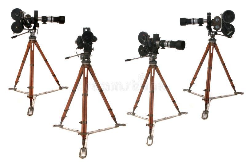 Câmera antiga do carretel de película da transmissão nos muitos Positio fotos de stock royalty free