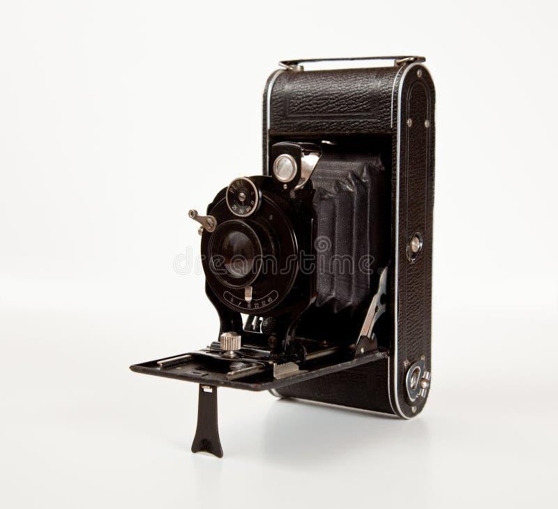 Câmera antiga na vista lateral fotografia de stock royalty free