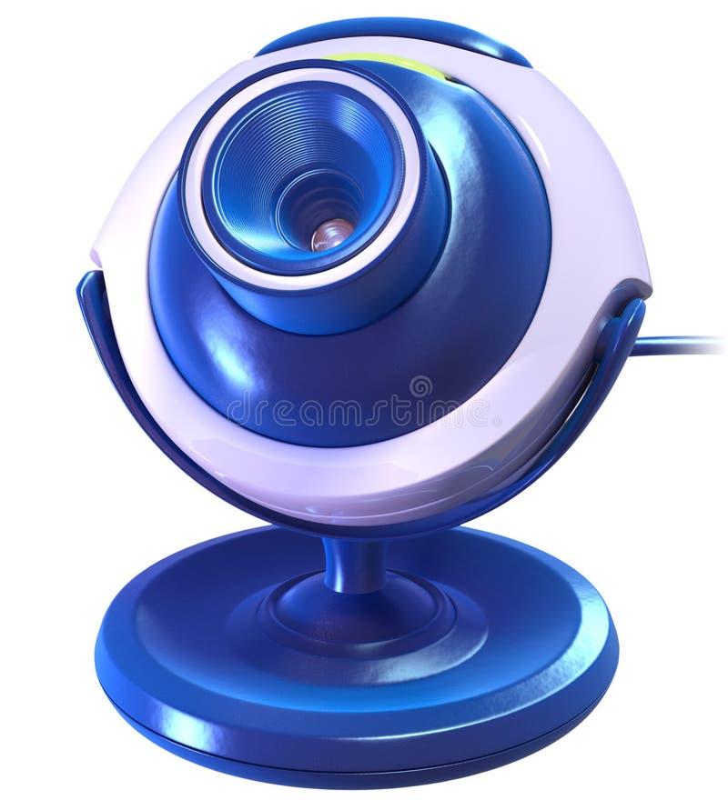 Câmera azul do Cyber imagem de stock royalty free