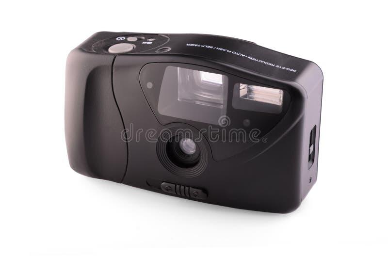 Câmera compacta análoga retro fotografia de stock royalty free