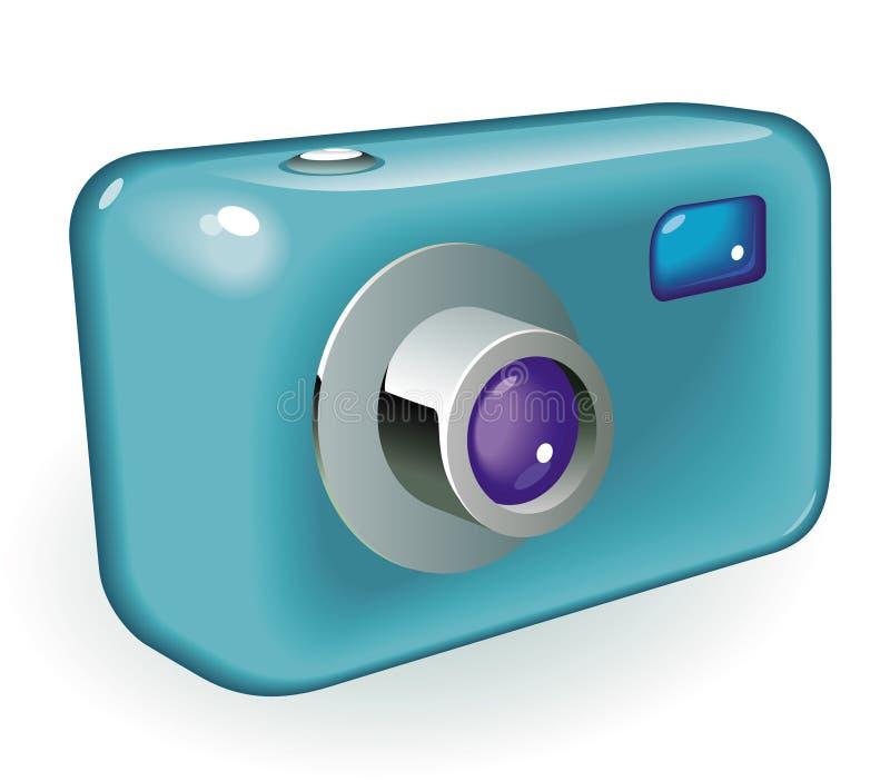 Câmera compacta da foto ilustração royalty free