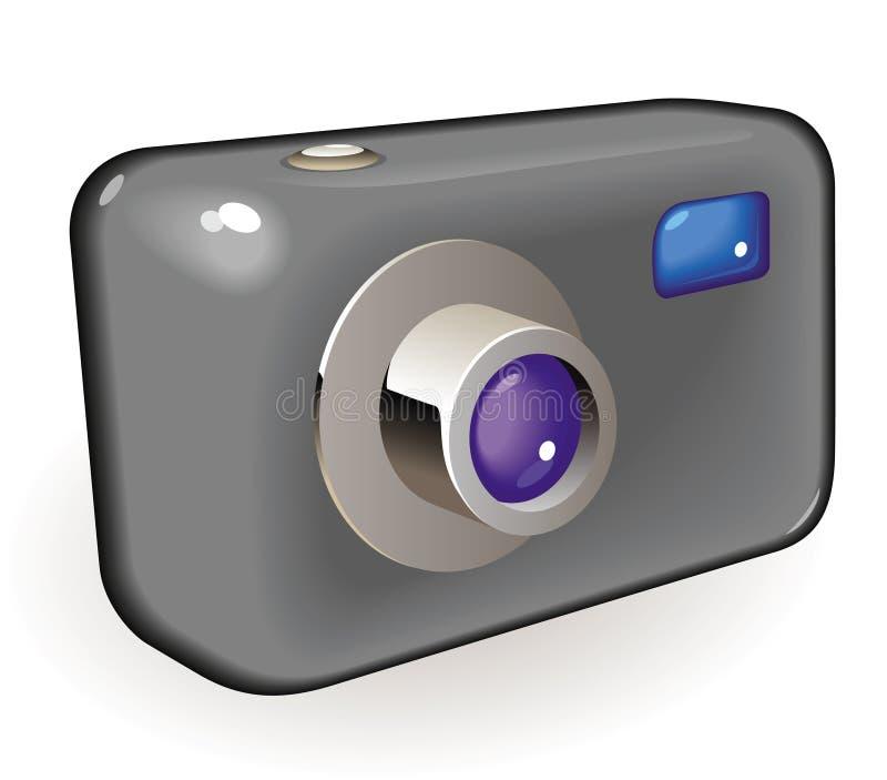 Câmera compacta da foto ilustração stock