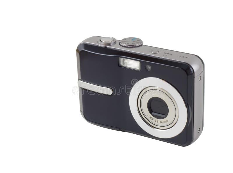 Câmera compacta de Digitas isolada com trajeto de grampeamento foto de stock royalty free