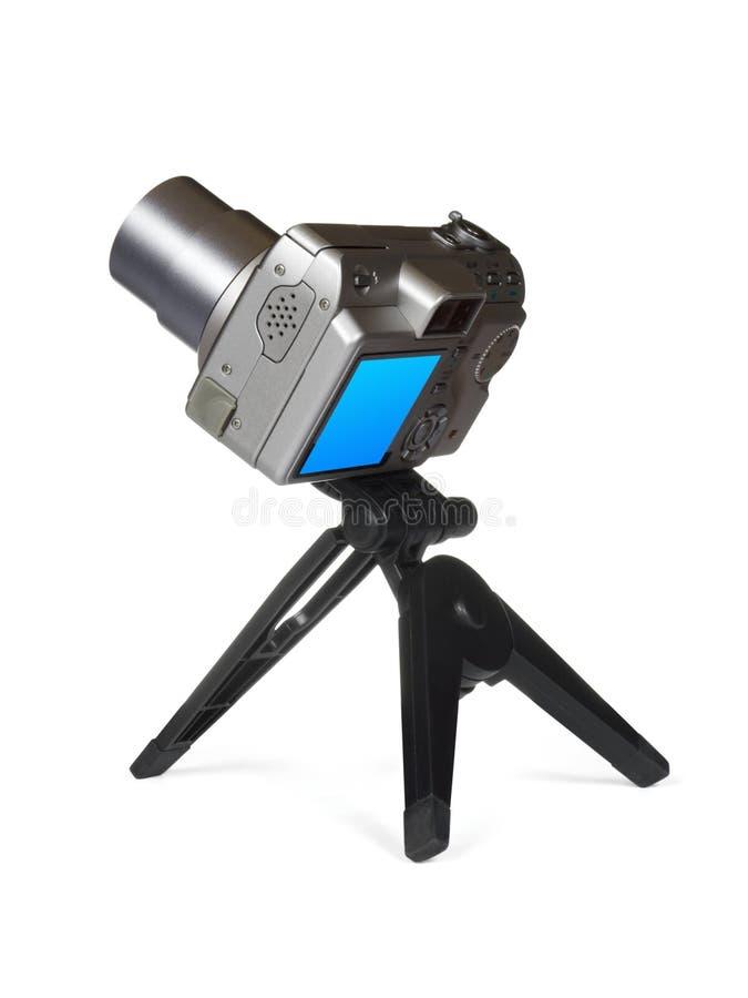 Câmera compacta no tripé fotos de stock