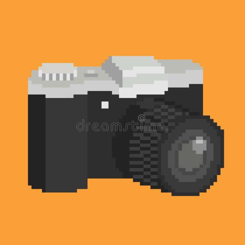 Câmera da arte do pixel ilustração royalty free