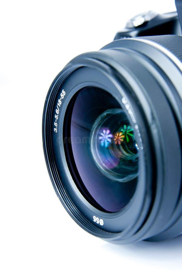 Câmera da foto de Digitas, lente, close up, isolado imagens de stock