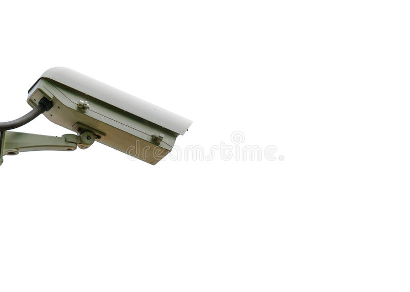 Câmera de circuito fechado isolada no branco imagens de stock royalty free
