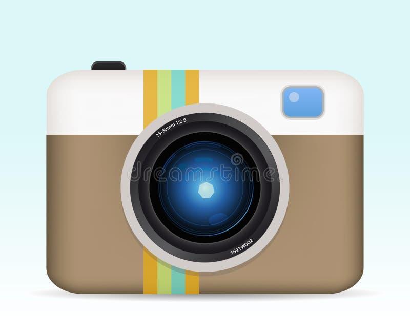 Câmera de cor do vintage ilustração royalty free