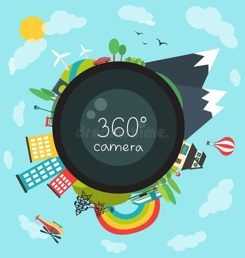 câmera de 360 graus ilustração royalty free