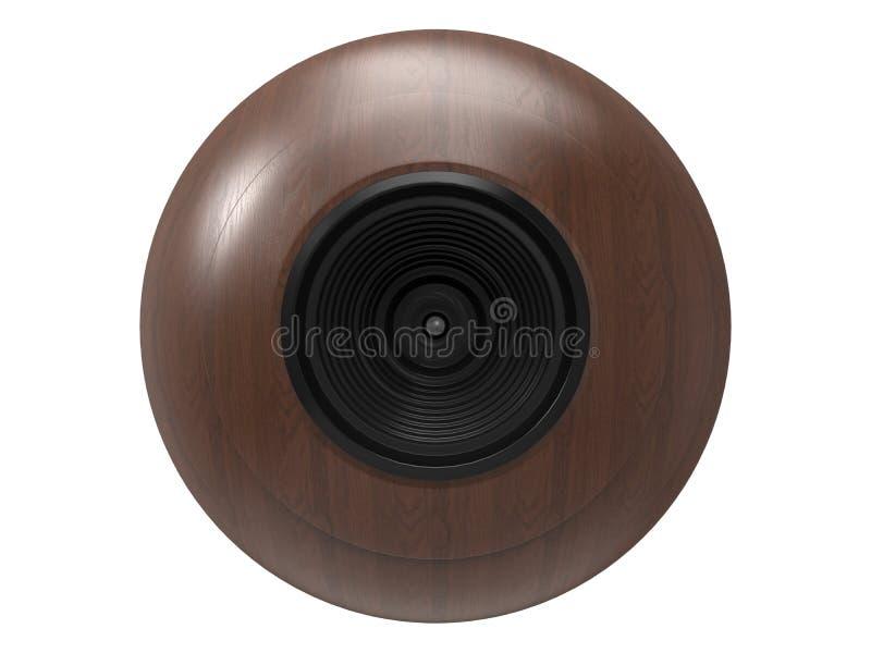 Câmera de madeira da esfera ilustração do vetor