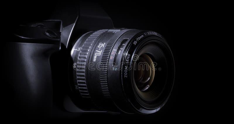 Câmera de reflexo da único-lente de Digitas imagem de stock