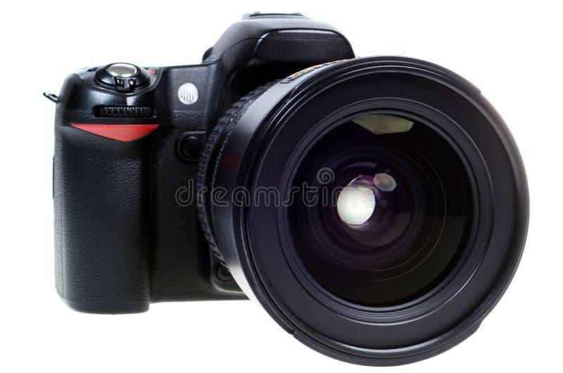 Câmera de reflexo digital da única lente de DSLR isolada imagens de stock