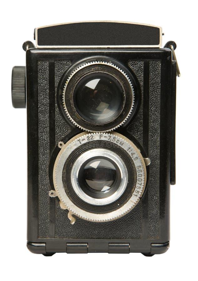 Câmera de reflexo gêmea velha 2 da lente foto de stock royalty free