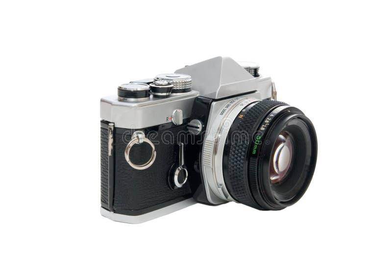 Câmera de reflexo velha da única lente fotografia de stock