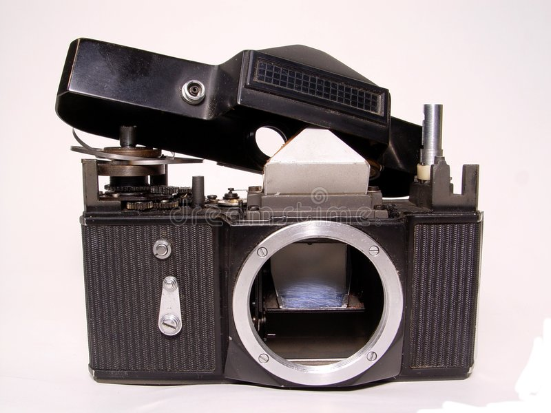 Câmera desmontada fotos de stock