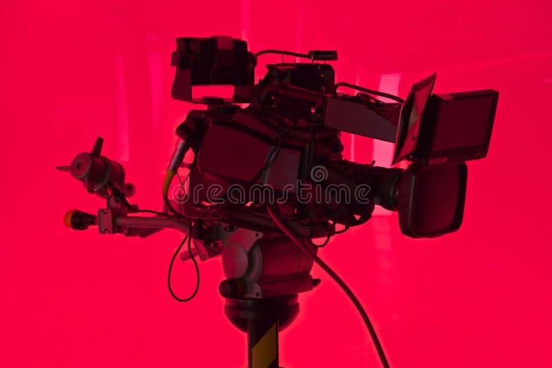 Câmera do estúdio da televisão fotos de stock