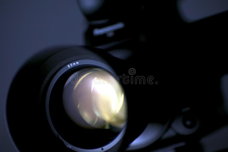 Câmera do tiro imagem de stock