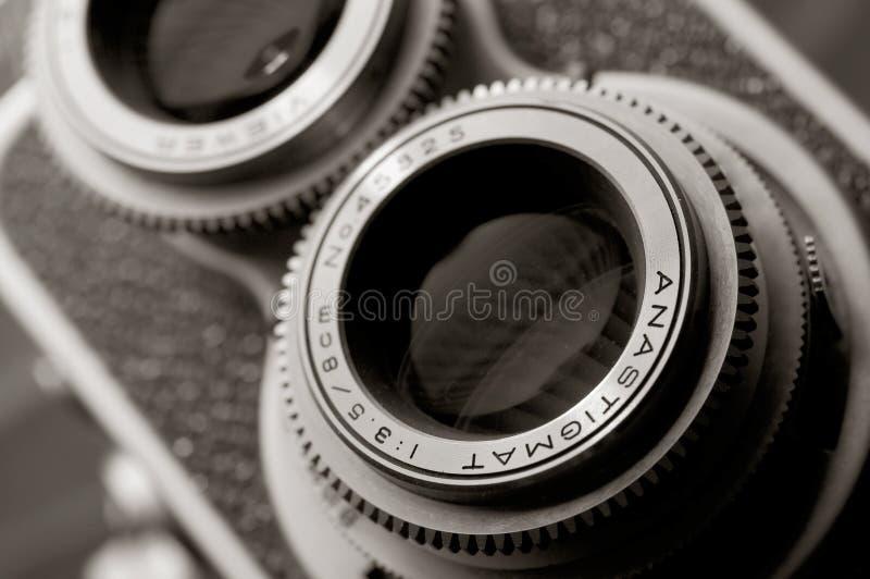 Câmera do vintage TLR imagem de stock