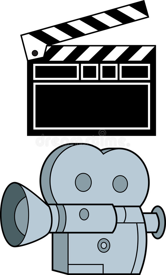 Câmera e ação ilustração do vetor