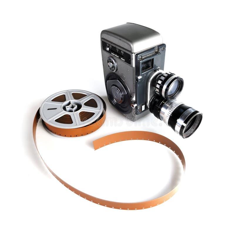 Câmera e película de filme do vintage fotografia de stock royalty free