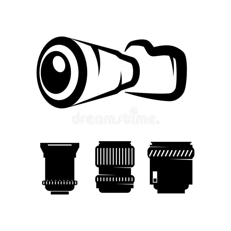 Câmera fotográfica com lente ajustada ilustração royalty free