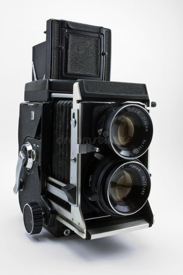 Câmera gêmea velha dos refleks da lente fotos de stock