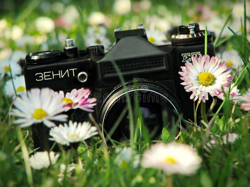 A câmera legendária do zênite - ZENIT E foto de stock