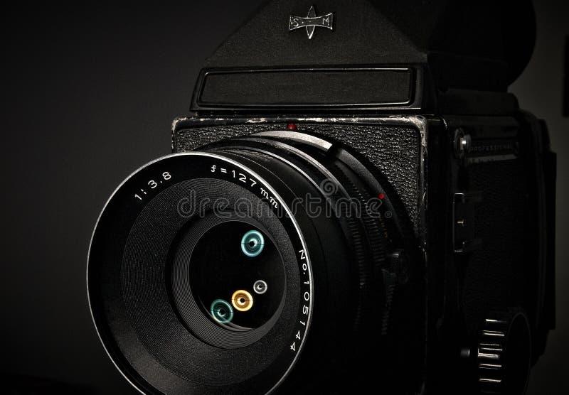 Câmera média de SLR do vintage do formato fotos de stock royalty free
