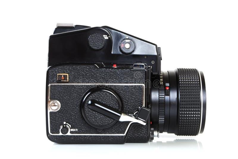 Câmera média profissional retro do formato. imagens de stock