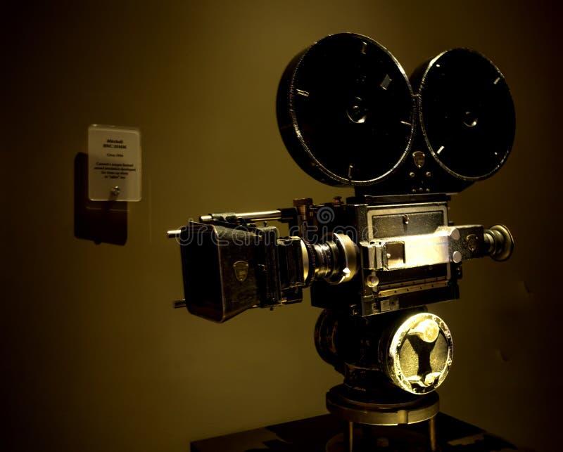 Câmera Mitchell BNC 35mm cerca do ano 1934 na excursão no 14 de agosto de 2017 - Los Angeles de Paramount Pictures Hollywood, LA, imagem de stock
