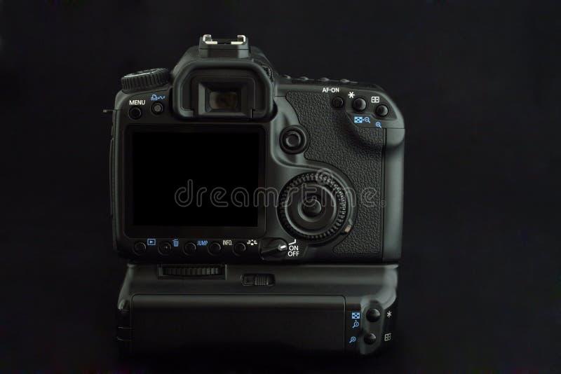 A câmera moderna de DSLR com grande sceen o LCD fotos de stock