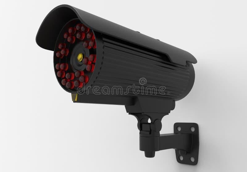 Câmera preta do CCTV ilustração stock