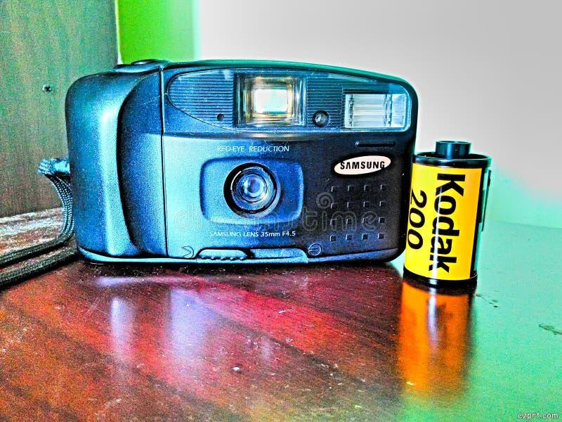 Câmera rara kodak 200 do filme fotografia de stock