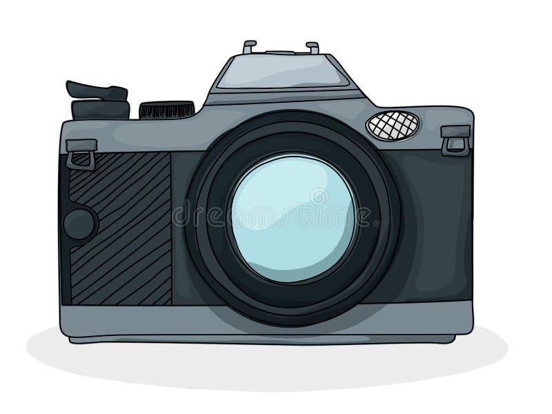 Câmera retro do foto dos desenhos animados ilustração do vetor