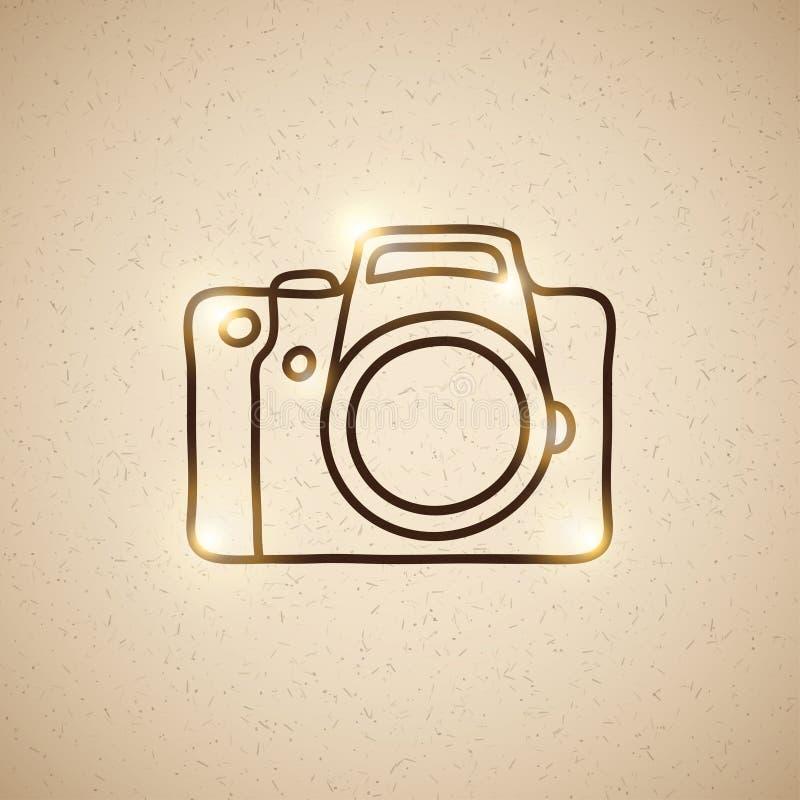 Câmera da foto ilustração stock