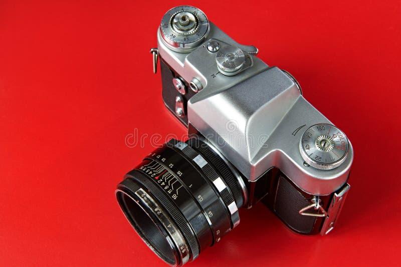 Câmera velha da foto do filme foto de stock