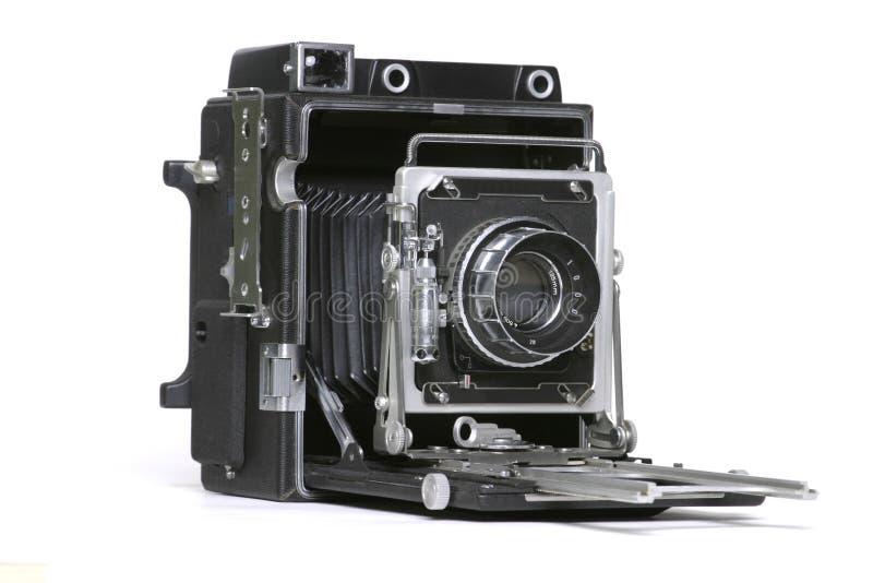 Câmera velha da película 4x5 fotos de stock
