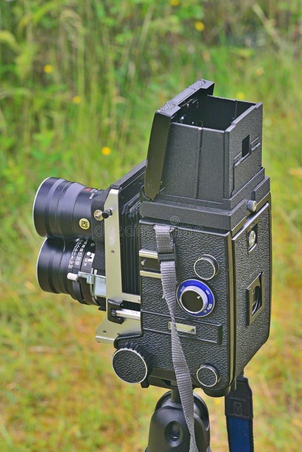 Câmera velha de TLR fotos de stock