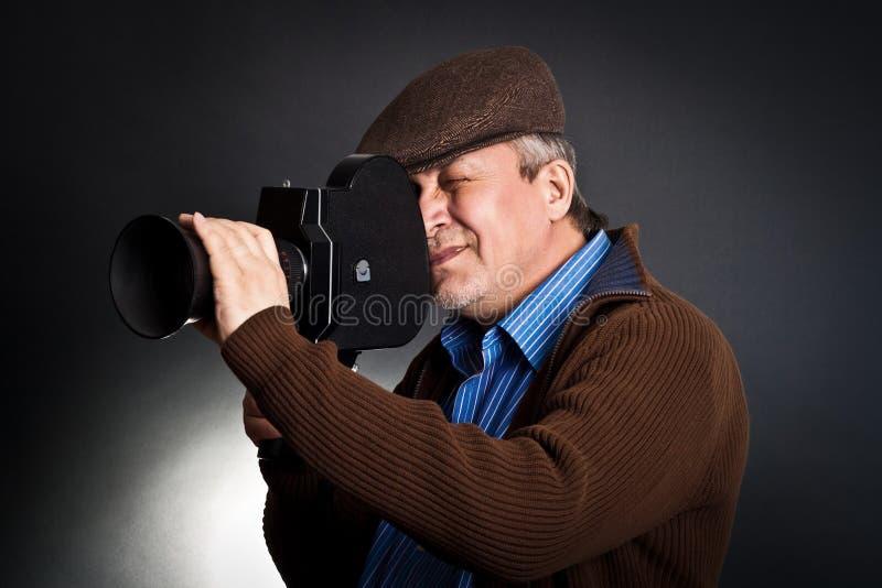 Câmera velha do retrato fotografia de stock