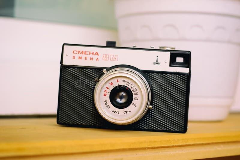 Câmera velha Smena do russo imagem de stock royalty free