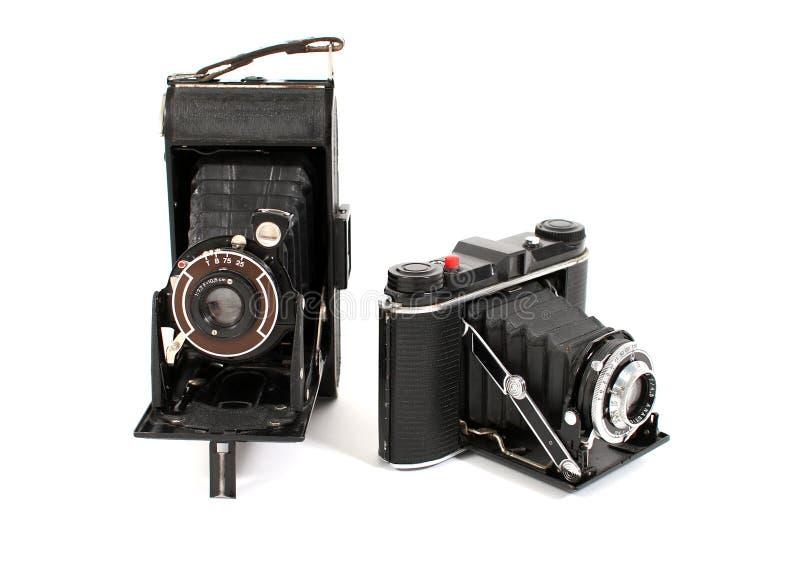 Câmeras da película do vintage fotografia de stock royalty free