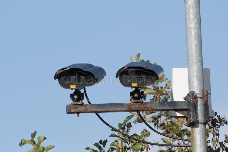 Câmeras do CCTV do estacionamento imagem de stock royalty free